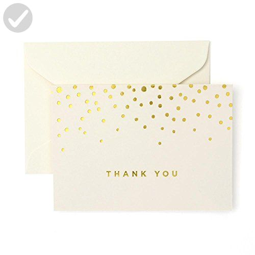 Gold Foil Dots Thank You Cards, Set of 50 - Fun stuff and gift ideas (*Amazon Partner-Link)