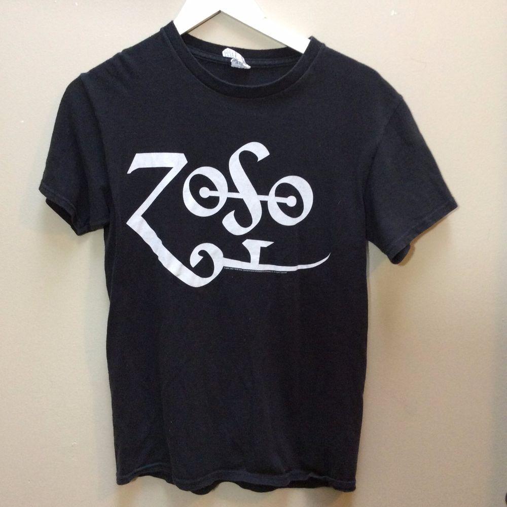 Jimmy Page Black Zoso Logo Symbol Delta T Shirt From 2009 Led