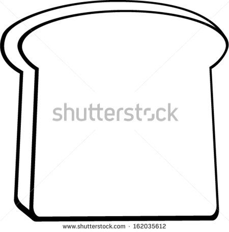 Bread Slice Coloring Page Coloring Pages Color Lettering