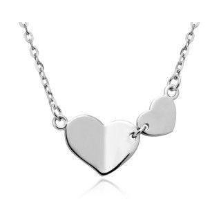 Collier Argent 925 Cœurs Unies Description Collier Cœurs En Argent 925 Massif Silver Necklace Necklace Silver