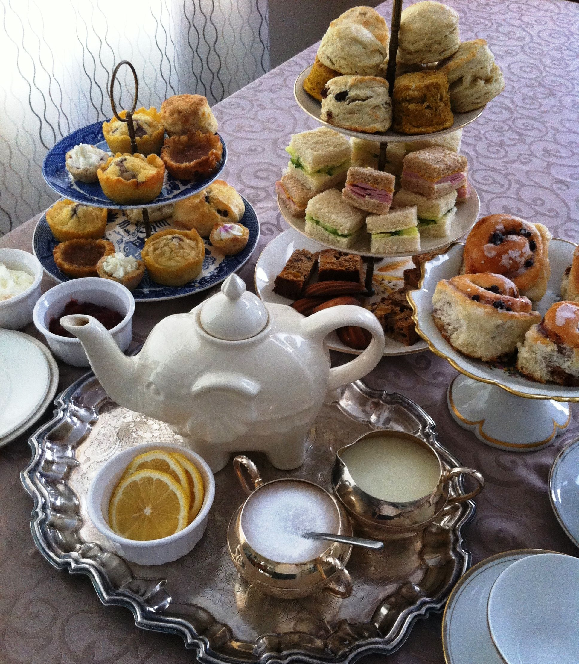 English Tea Party Decorations: Afternoon Tea, Clotted Cream