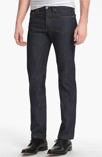 607c886615cf A.P.C.  New Standard  Slim Straight Leg Selvedge Jeans (Indigo ...