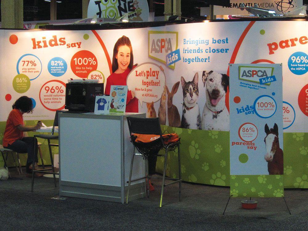 Aspca Kids Brand Extension Trade Show Booth Aspca Kids