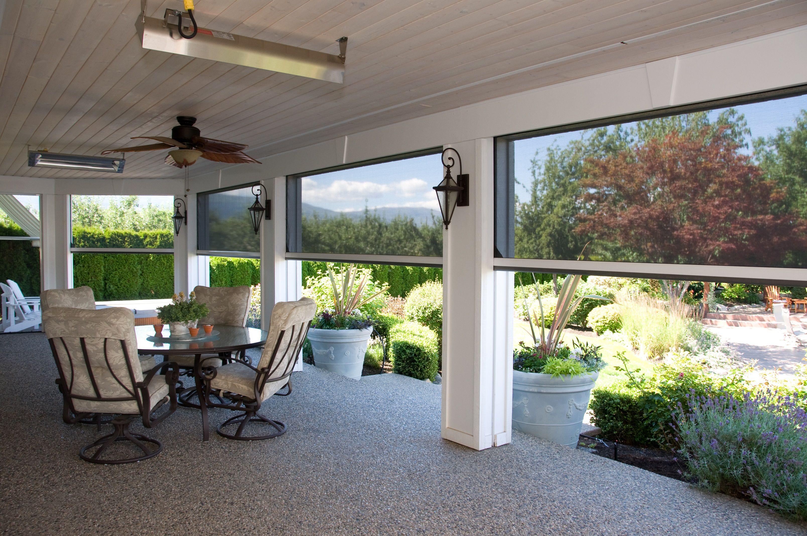 A home with a garden view phantom screens screened