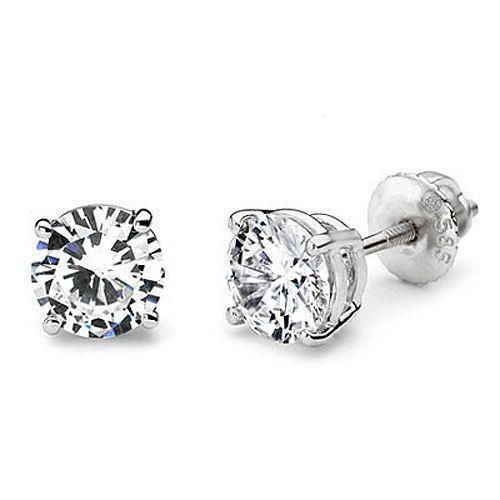 38d14aa14 Diamond Stud Earring White Gold 14K F Vs1 Diamond Jewelry 1.5 Ct. in ...