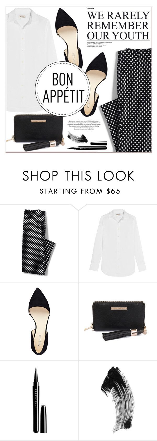 """# I/27 Poppy & Peonies"" by lucky-1990 ❤ liked on Polyvore featuring Lands' End, J.Crew, Nine West, Marc Jacobs and Chantecaille"