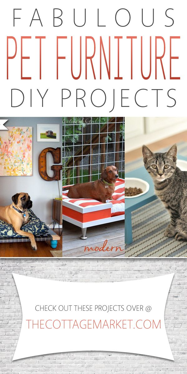 Fabulous Pet Furniture DIY Projects - The Cottage Market