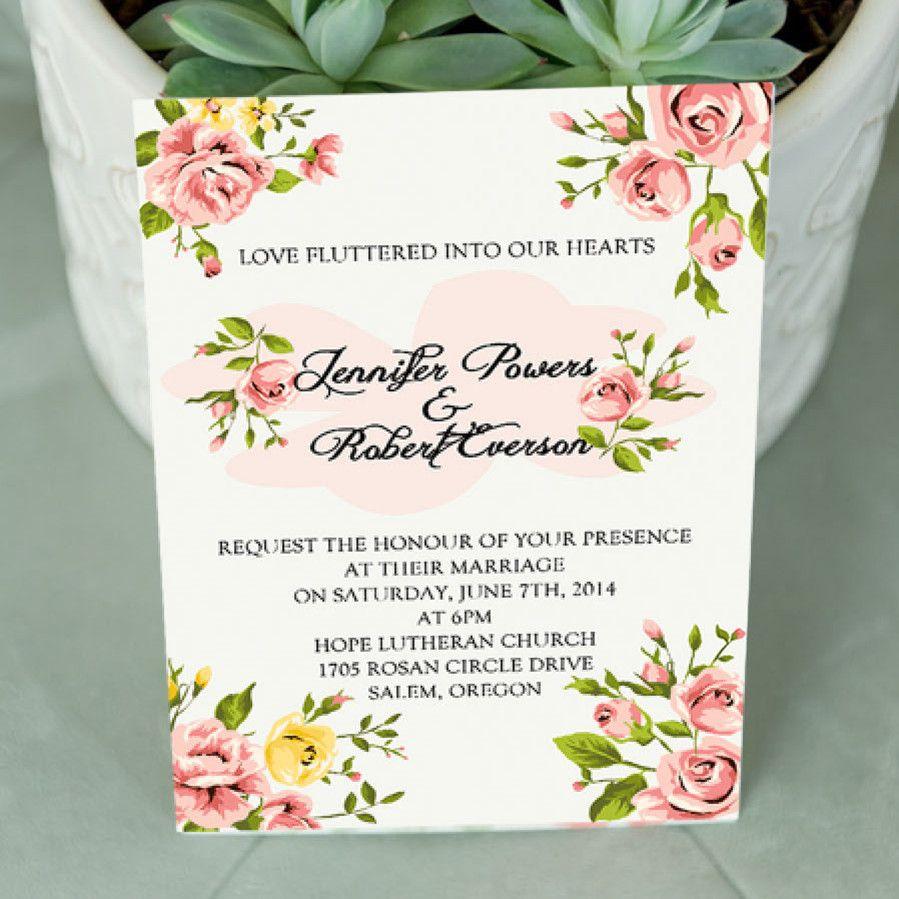 Inexpensive C Spring Fl Wedding Invitations Ewi342