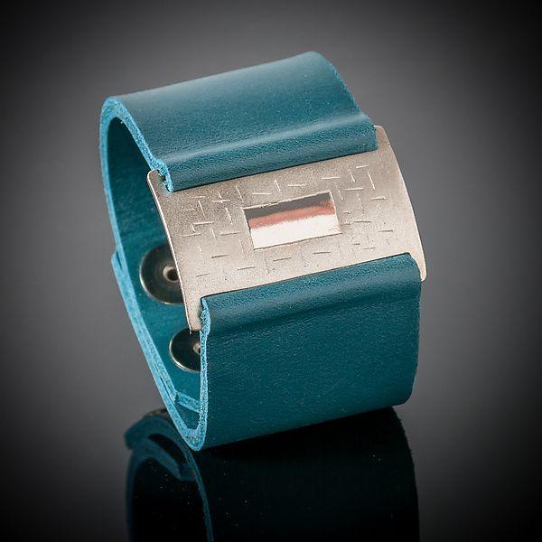Passage Wrist Wrap Bracelet by Karen Klinefelter: Silver & Leather Bracelet available at www.artfulhome.com