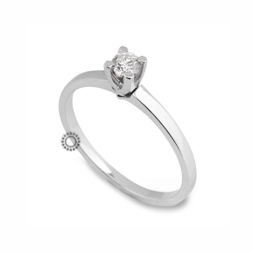 Μονόπετρο δαχτυλίδι με διαμάντι σε κοπή μπριγιάν από Κ18 λευκόχρυσο  114aace0386