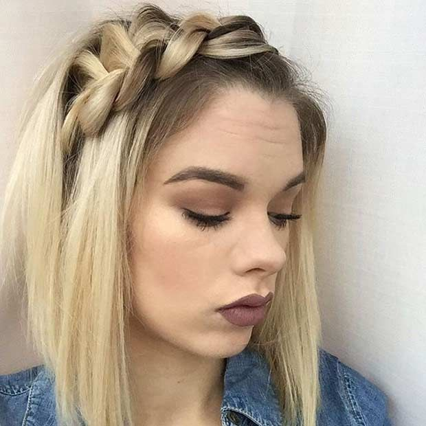 17 Chic Braided Hairstyles For Medium Length Hair