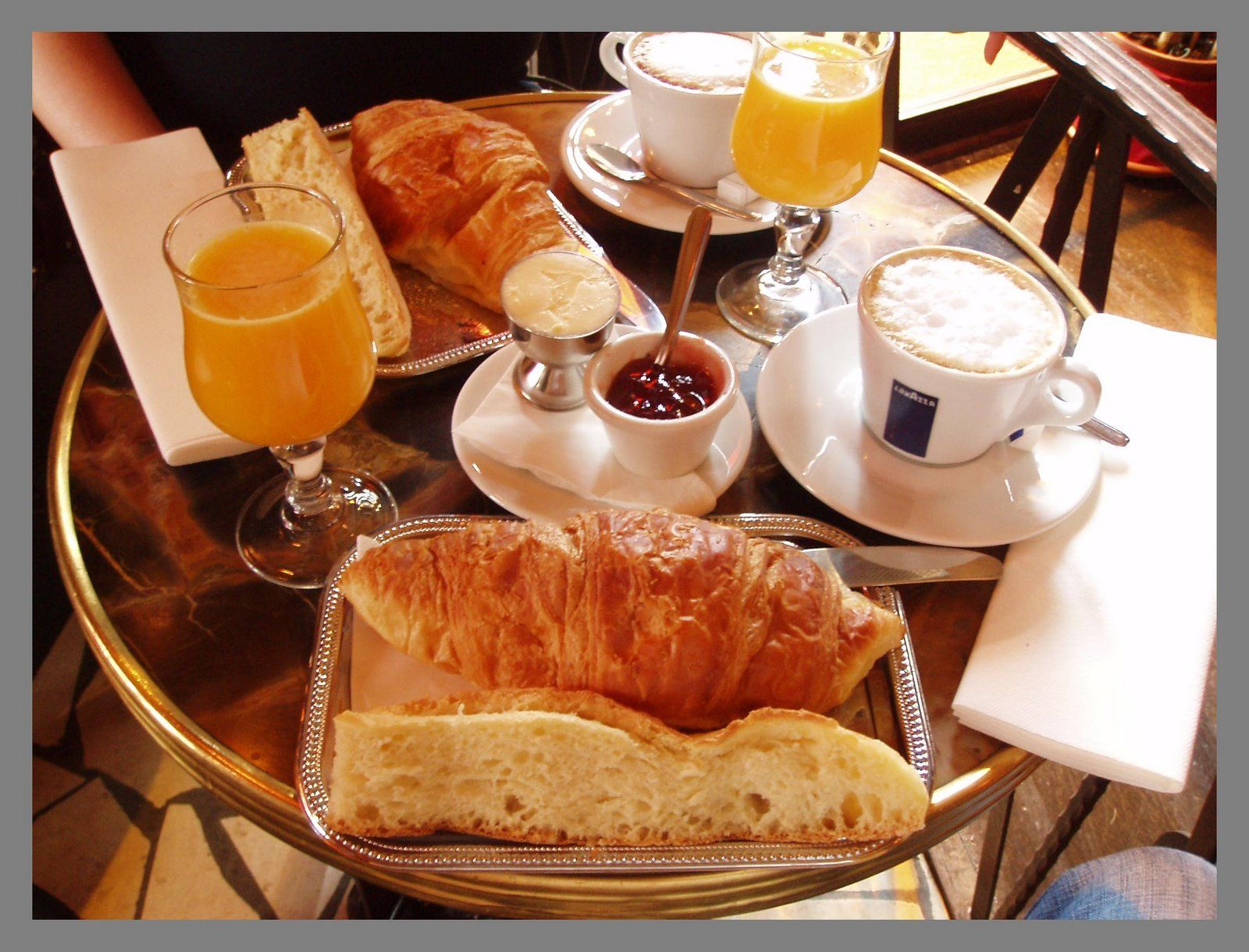 Typical French Breakfast French Breakfast Parisian Breakfast Bistro Food