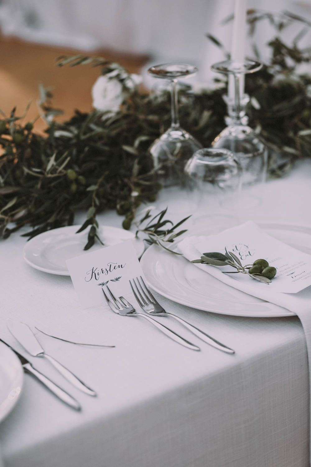 Elegant Outdoor Spanish Wedding with Olive Branches & White Florals ...