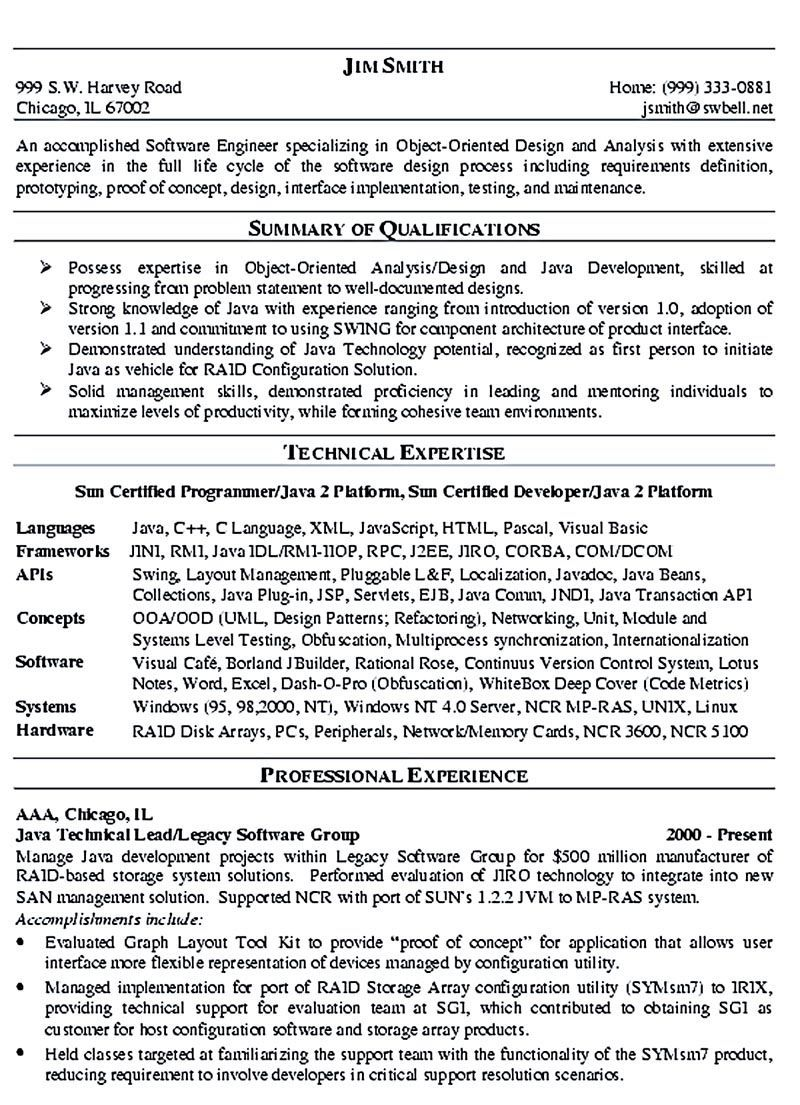 Software Engineer Resume Sample and Tips (With images