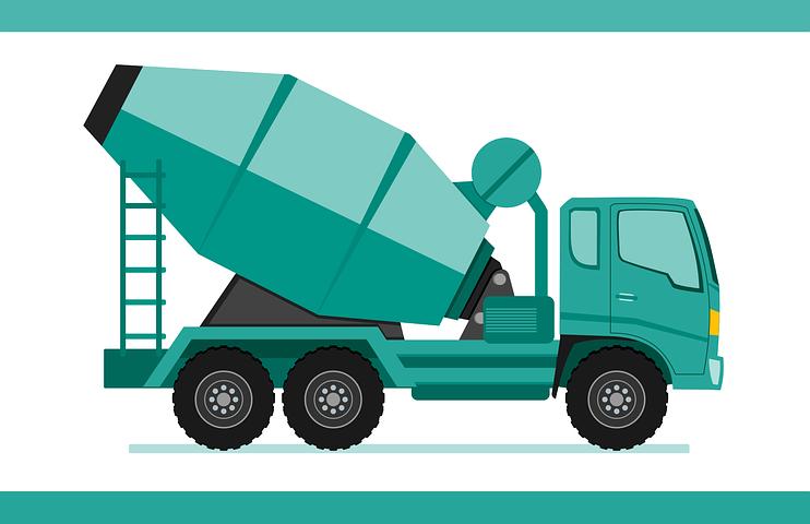 Truck Concrete Mixer Truck Heavy Concrete Contractor Concrete Slab Concrete Truck