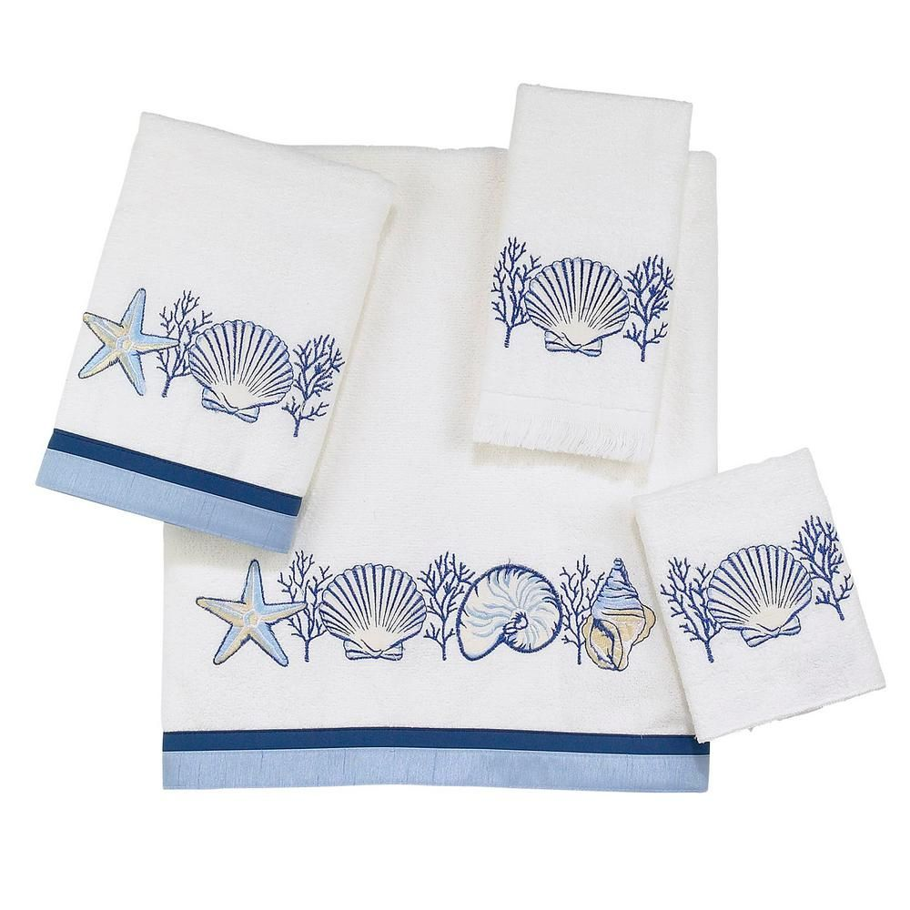 Avanti Linens Galaxy 4 Piece White Geometric Bath Towel Set 01933s
