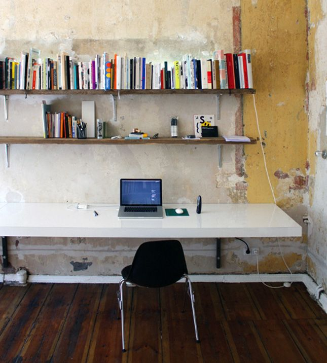Diy Wall Mounted Desk Free Plans Instructions Wall Mounted