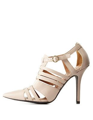 Qupid Pointed Toe Huarache Pumps: Charlotte Russe