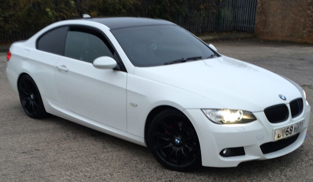 Bmw 3 Series M Sport Coupe White Fsh Mot 08 2016 All Extras Sat