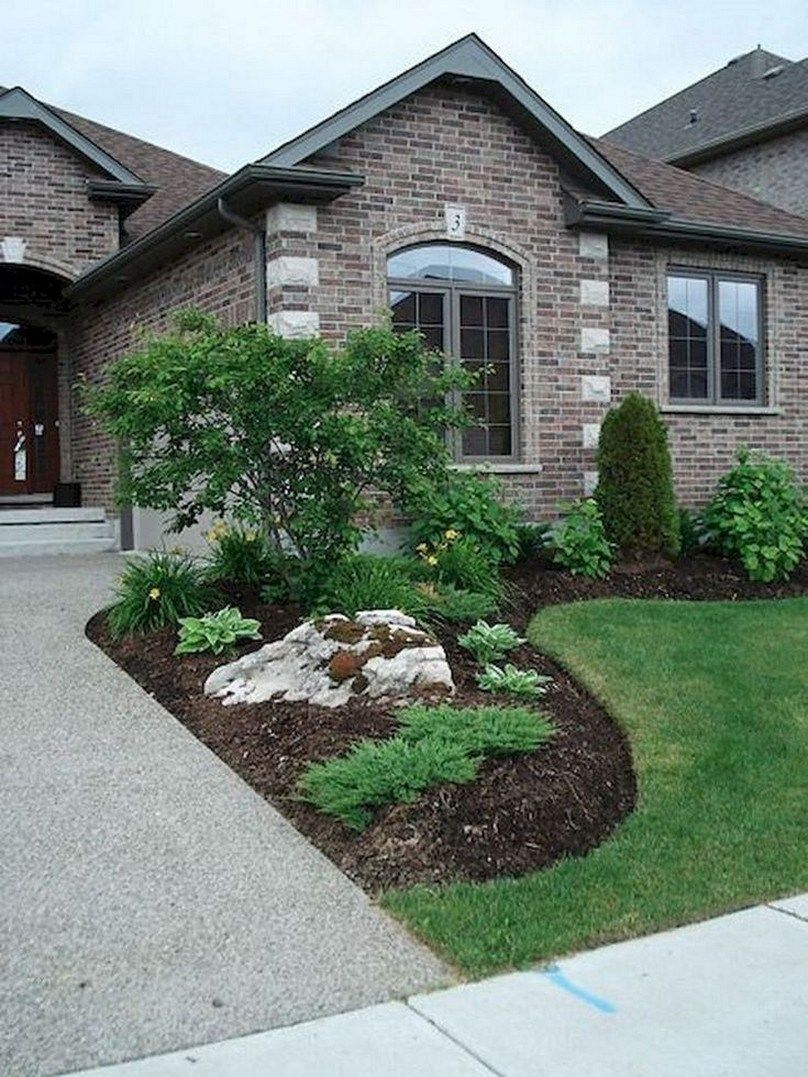 ✔ 37 small & simple front yard landscaping ideas for your garden 21 #smallfrontyardlandscapingideas