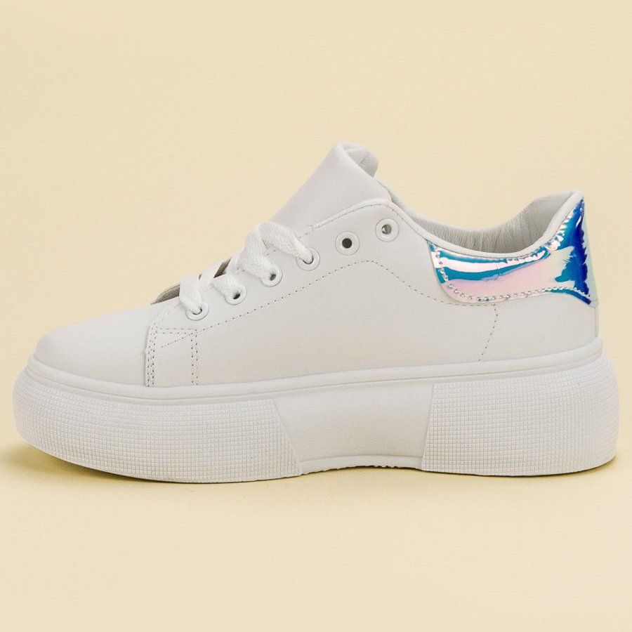 Renda Biale Buty Na Platformie Shoes White Sneaker Sneakers