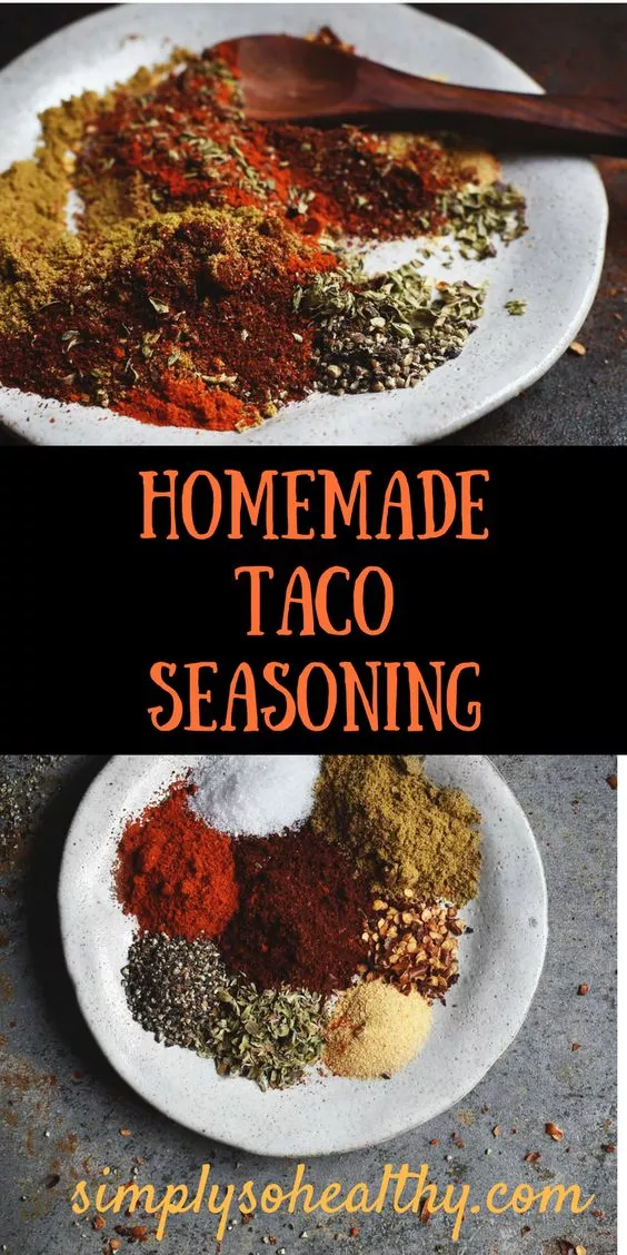 Delicious Homemade Taco Seasoning Recipe - Simply So Healthy