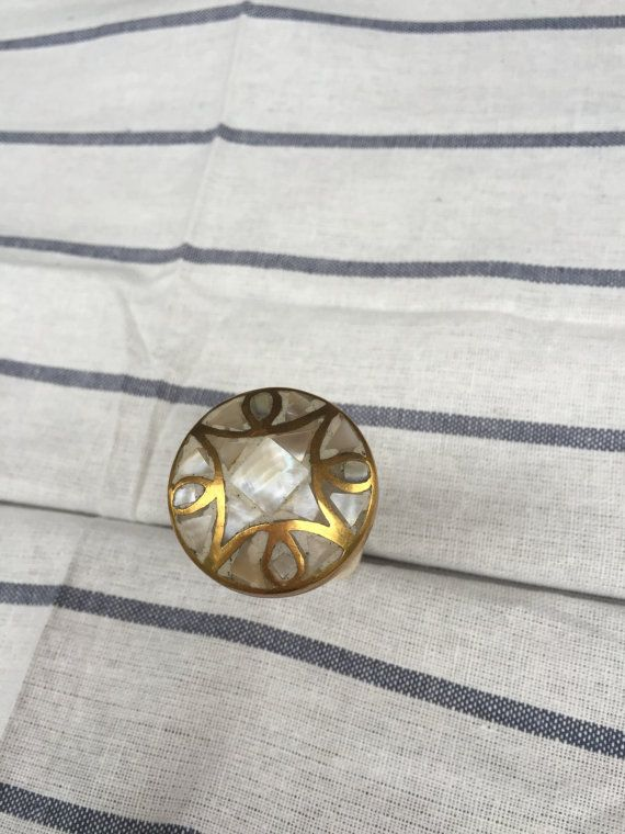 Delicieux $10 (Etsy) / Cabinet Knob Brass Mother Of Pearl Modern Gold Knob, Drawer