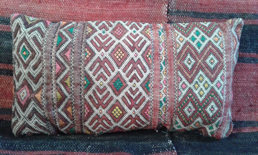 Pillow Vintage Berber  Moroccan Wedding Kilim - Cushion, Handmade 100% Authentic #Handmade #Moroccan