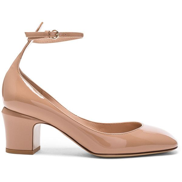 df56133146dc Valentino Patent Leather Tan-Go Pumps (€790) ❤ liked on Polyvore featuring  shoes