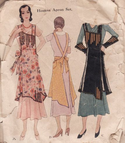 1920s apron patterns - Google Search | aprons | Pinterest | Geschenk