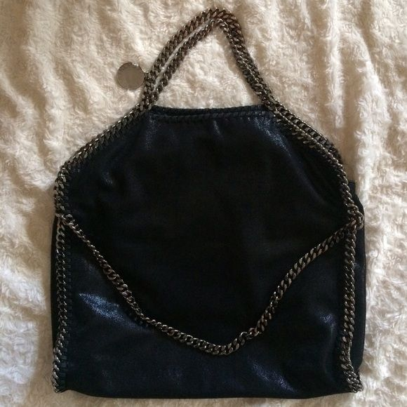 48c1db284456 Stella McCartney Falabella Foldover Purse AUTHENTIC Stella McCartney  Falabella foldover purse with silver hardware and black