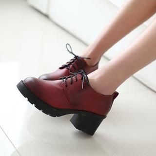 Buy 'JY Shoes – Chunky Heel Oxfords' with Free International Shipping at YesStyle.com. Browse and shop for thousands of Asian fashion items from China and more!