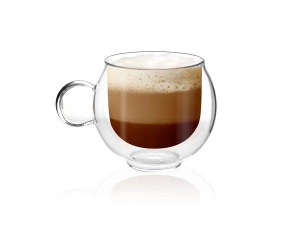 Vialli Design Filizanka Z Podwojna Scianka Amo Double Wall Glass Coffee Lover Coffee Love