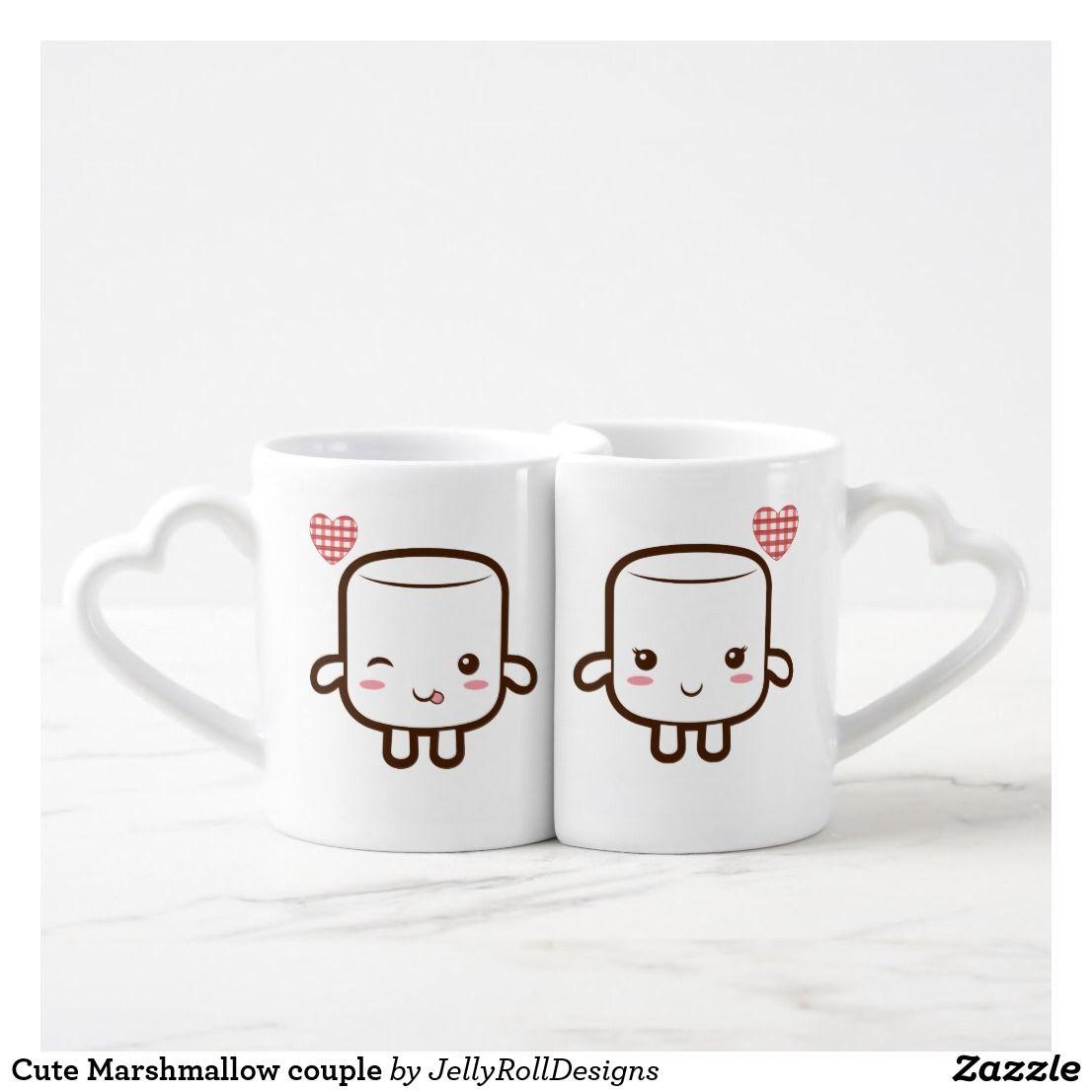 Cute Marshmallow couple Coffee Mug Set | Zazzle.com
