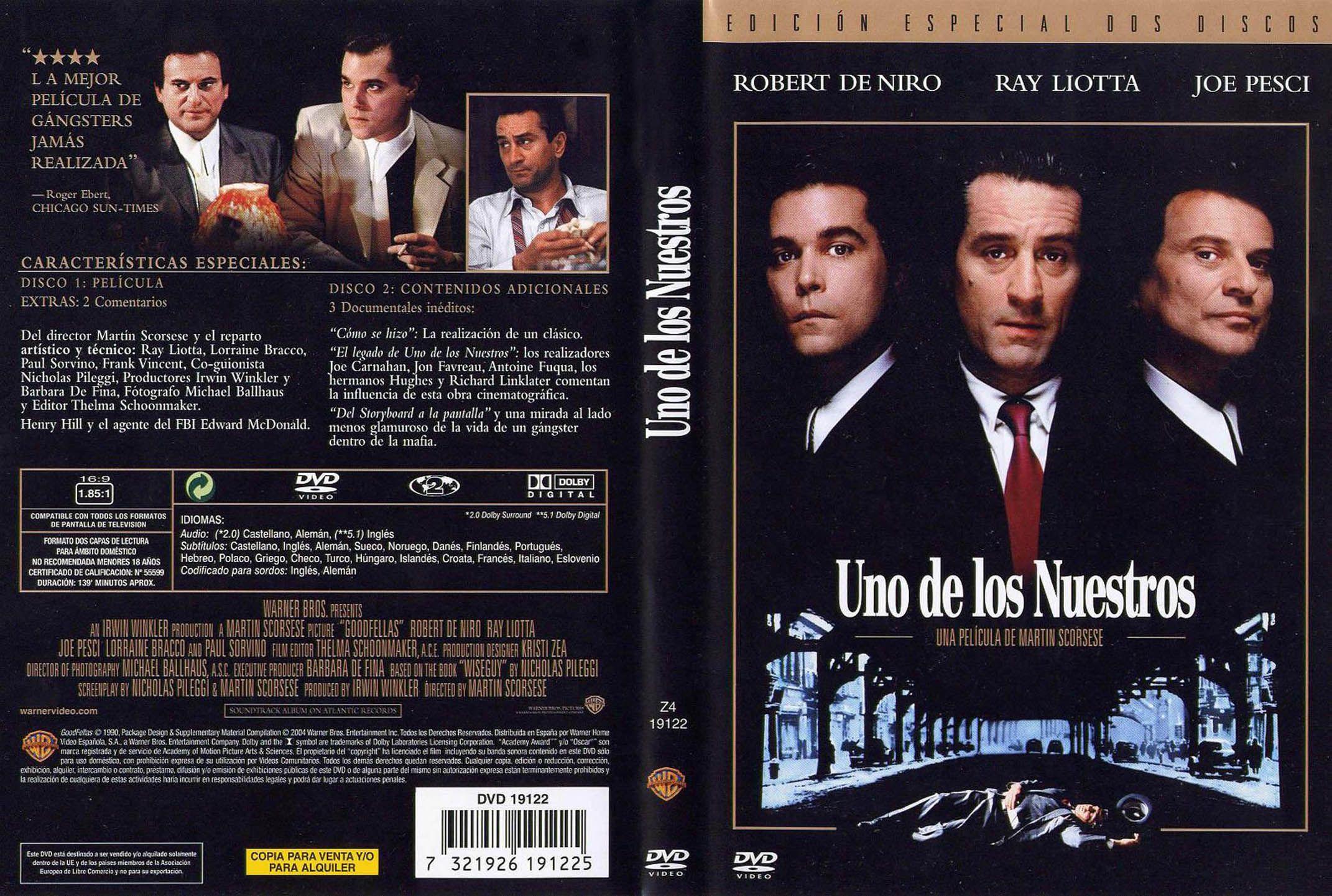 Uno De Los Nuestros Goodfellas Unodelosnuestros Goodfellas Thegoodfellas Robertdeniro Scorsese Raylio Portadas De Películas Ray Liotta Martin Scorsese