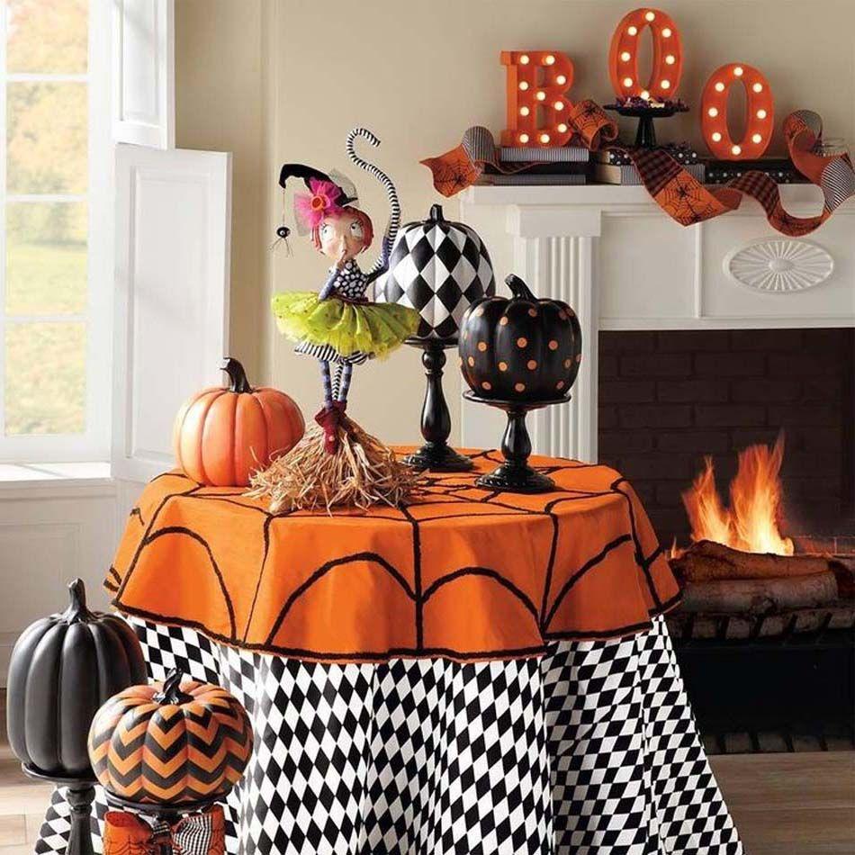 deco table halloween fait maison. Black Bedroom Furniture Sets. Home Design Ideas