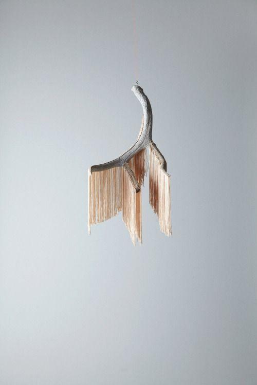Mpatmos Fringe Antler Mobile By Dana Haim Antlers Art Materials Kinetic Art