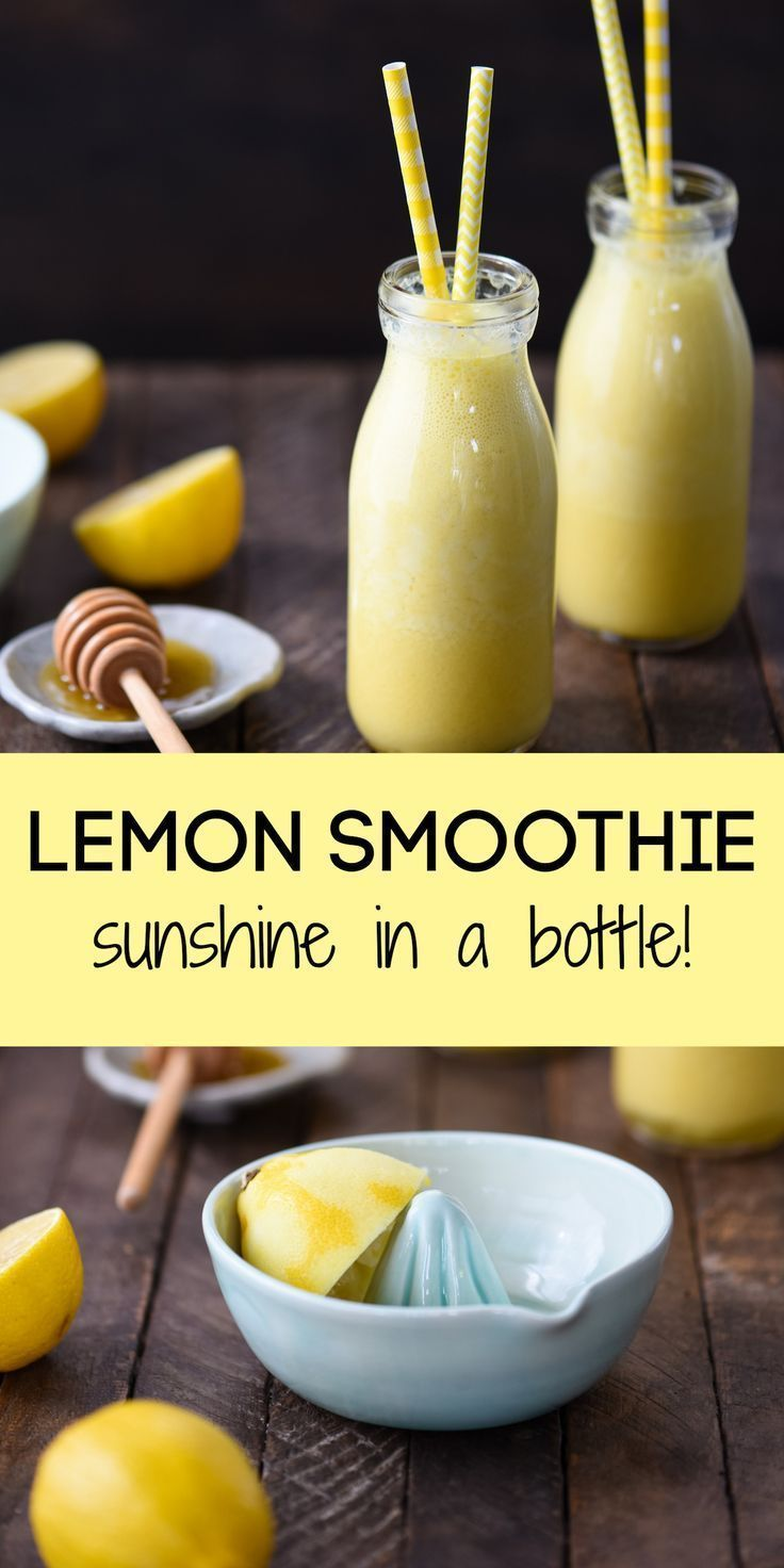 Lemon Smoothie (Sunshine in a Bottle!) - With Video! - Foxes Love Lemons : Sunshine in a Bottle Lem