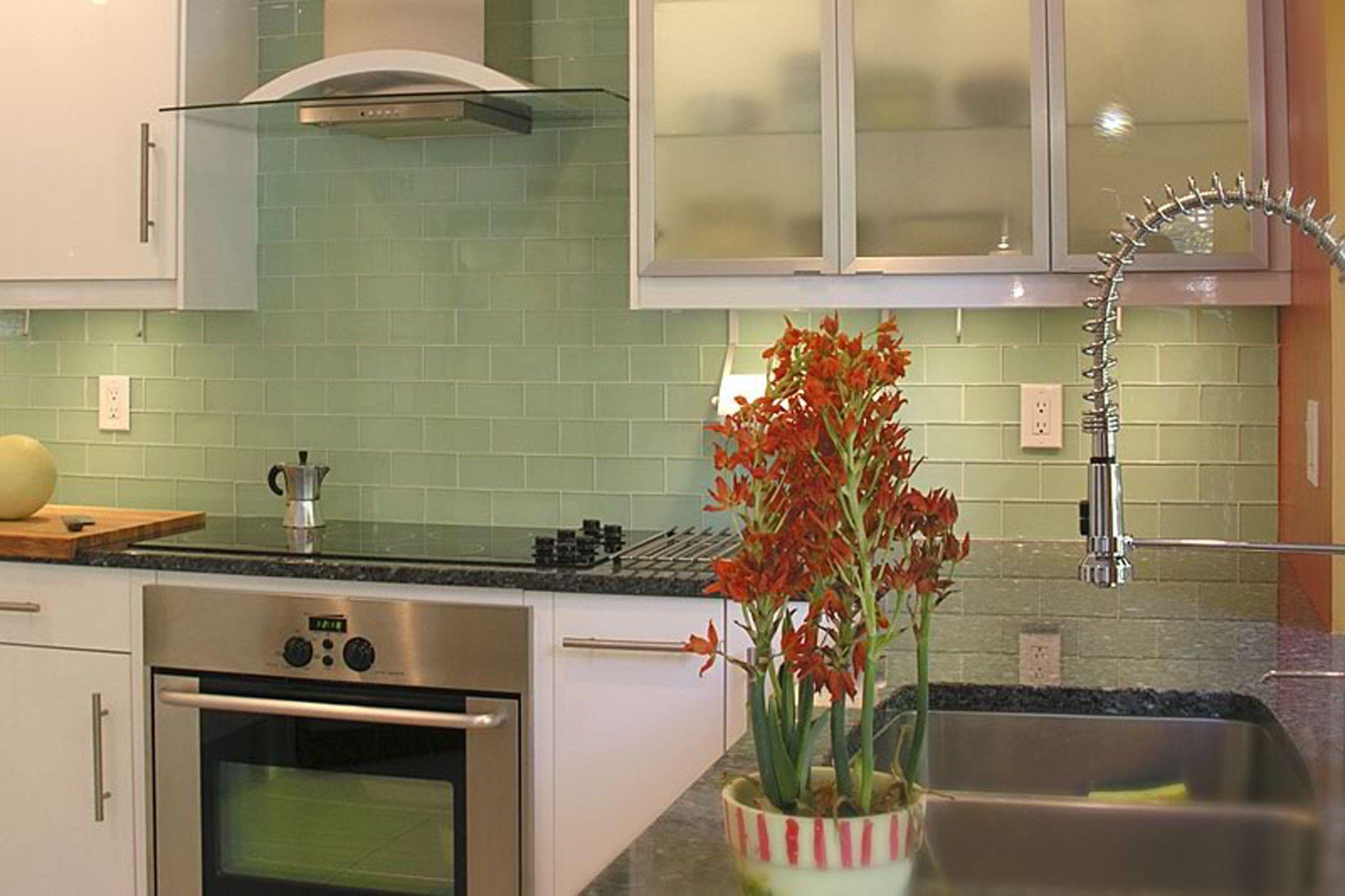 Green Glass Subway Tile In Surf Modwalls Lush 3x6 Tile Modwalls