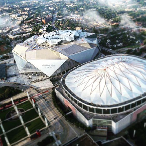 mercedes benz stadium minecraft. Mercedes Benz Stadium And The Dome...The New Old Minecraft