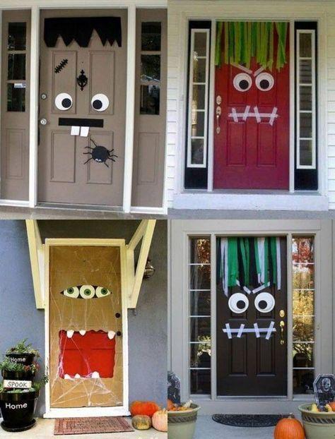 Halloween Deko für die Haustür basteln – 50 Türdeko Ideen #diyhalloweendéco