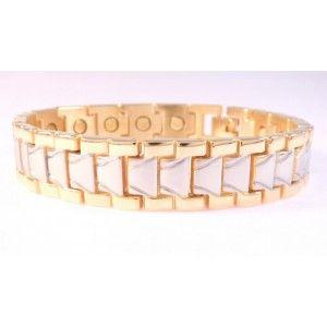Gold plated magnetic bracelet