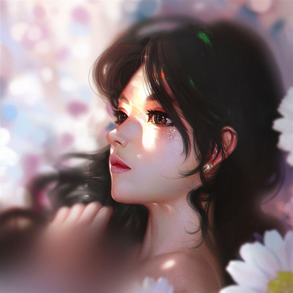 Daisy Cute Girl Illustration Art Retina Ipad Air Wallpaper Art