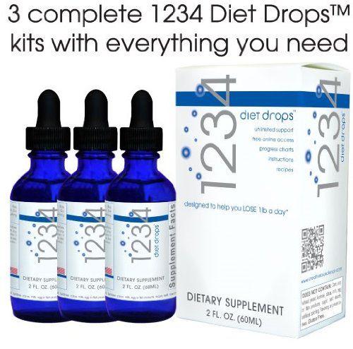 Creative Bioscience 1234 Diet Drops 2 Ounce Super Value 3 Pack Diet Drops 1234 Diet Drops Diet