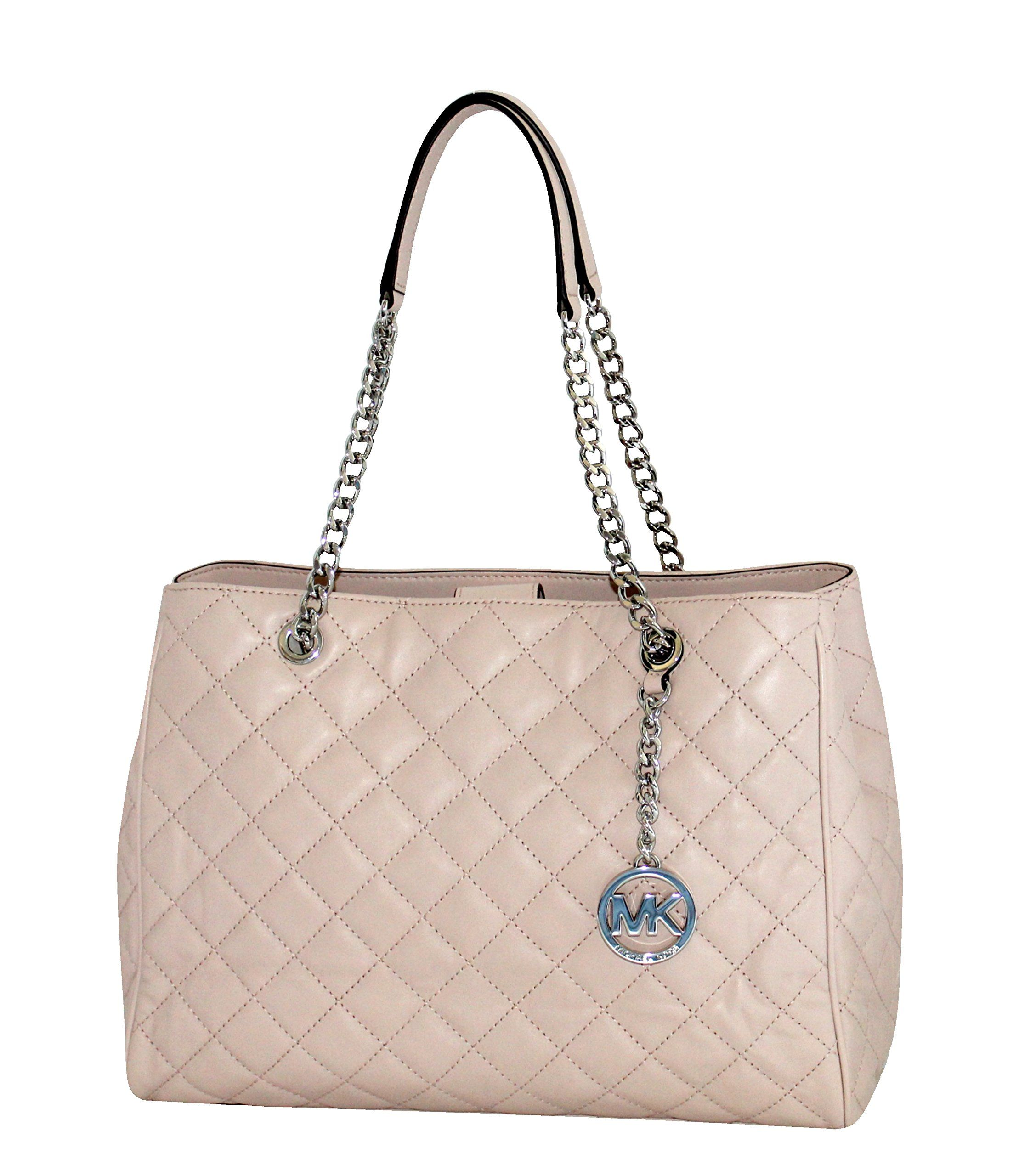 923fbbbc685a MICHAEL Michael Kors Susannah Womens Large Quilted Leather Handbag TOTE  BALLET -- Very nice of you to drop by to view the image.