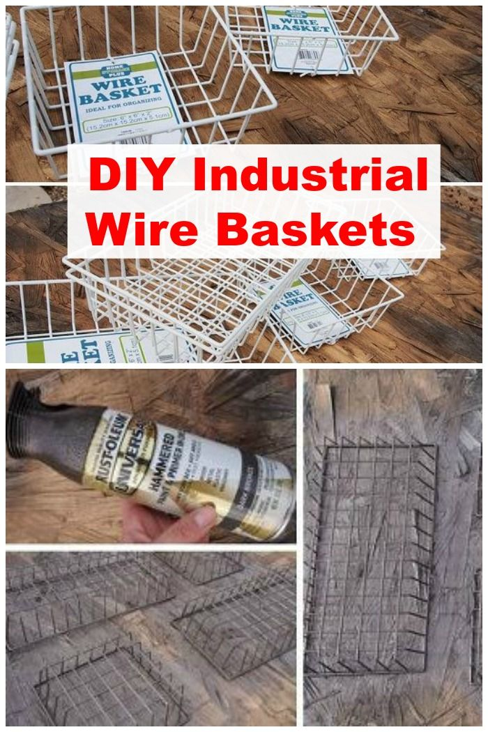 Industrial Wire Basket Dollar store crafts, Diy home