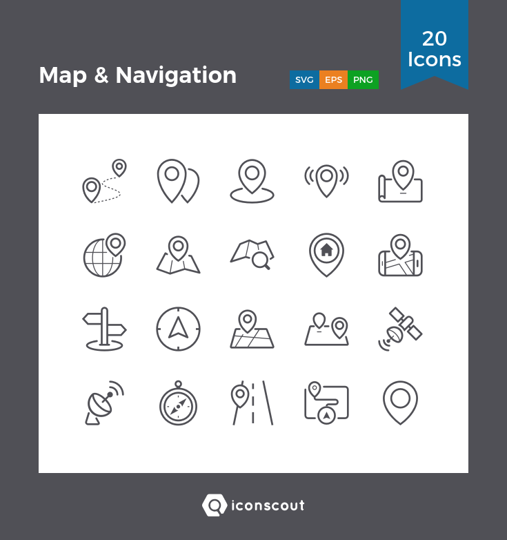 Download Map Navigation Icon Pack Available In Svg Png Eps Ai Icon Fonts Web App Design Icon Pack Icon