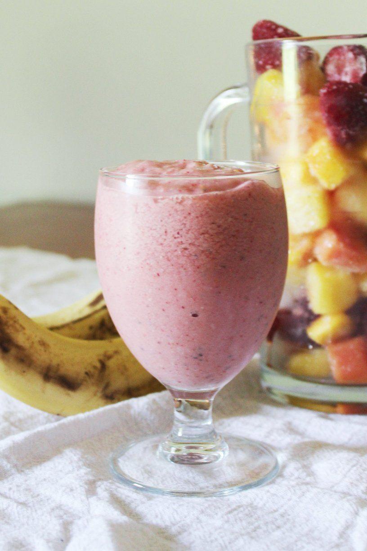 Recipe 5 Minute Vegan Breakfast Smoothie Recipe Vegan Breakfast Smoothie Breakfast Smoothie Recipes Smoothie Drink Recipes