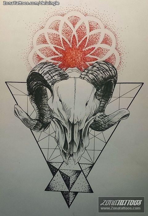 Diseño De Geométricos Cabras Animales Tatuajes Disenos De Unas