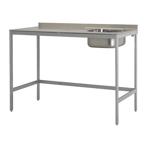 udden single bowl sink with legs ikea freestanding unit; easy to ... - Udden Küche Ikea